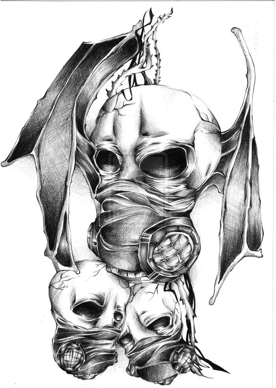 Evil Gas Mask Drawing Galleryhipcom The Hippest