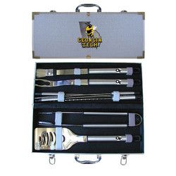 Georgia Tech Yellowjackets NCAA 8pc BBQ Tools Set