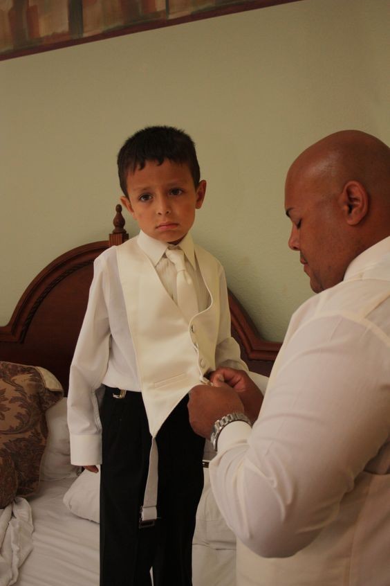 The ring bearer is excited for the wedding #nothappy #adorable