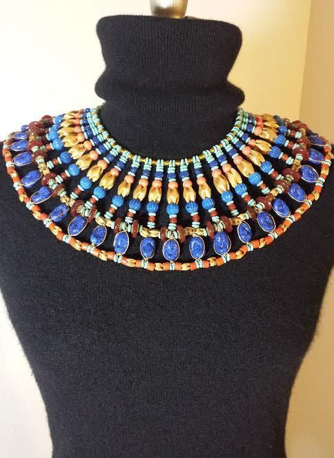 Vintage Miriam Haskell Necklace Signed Egyptian Bib Collar Larry Vrba Era Massive 15 Layers Haute Couture EXTREMELY RARE EXCELLENT on Etsy, $2,265.11 AUD