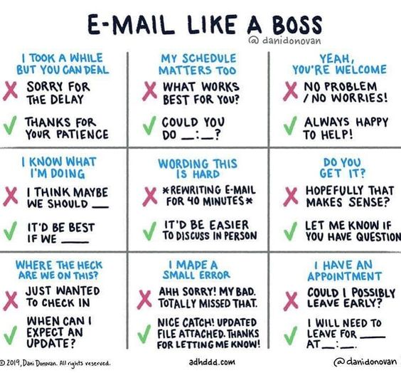 An Organized Chart For Emailing Like A Boss Thank You Danidonovan For This Kick Tool For Professionals Writing Skills English Writing Skills Work Goals