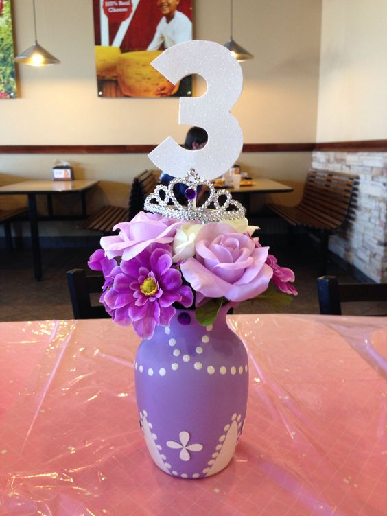Sofia the First centerpiece - Pinterest • The World's Catalogue Of Ideas