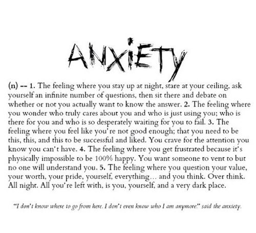 severe anxiety is a lot worse than people think. I cannot relax at all or like a normal person does.