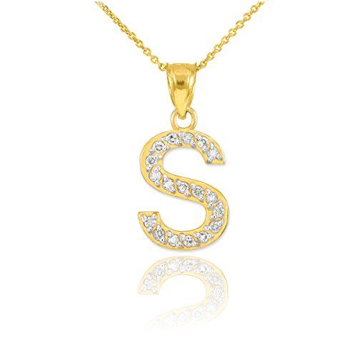 Elegant Sterling Silver CZ InitialY Heart Charm Pendant Necklace