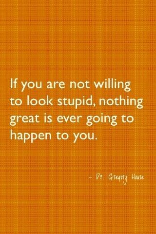 If you are not willing to look stupid, nothing great is ever going to happen to you.