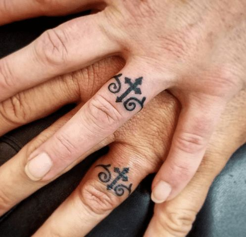 Wedding Band Tattoos Christ First Us Second Ring Tattoo Designs Wedding Band Tattoo Tattoo Wedding Rings