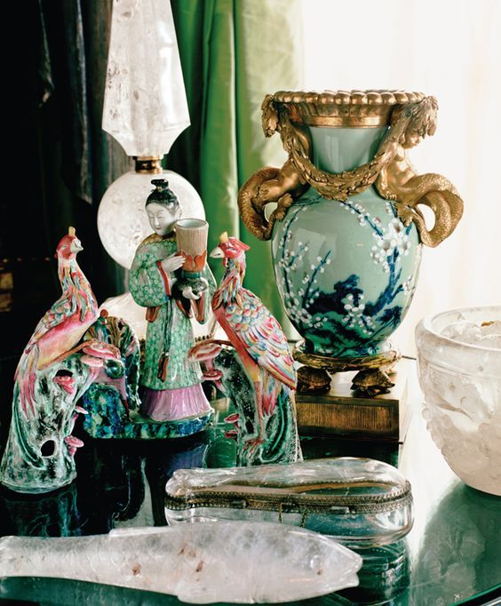 Chinoiserie Chic: pink and green: