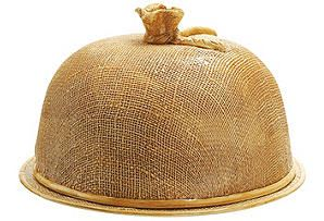 One Kings Lane - Tabletop Favorite - Jute Cake Dome With Plate