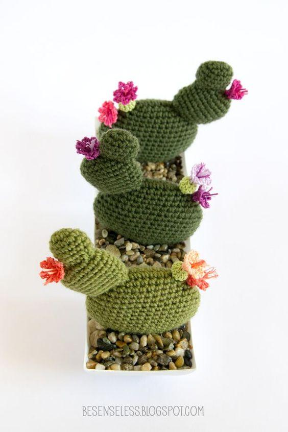 crochet amigurumi cactus - succulente a uncinetto - airali ...