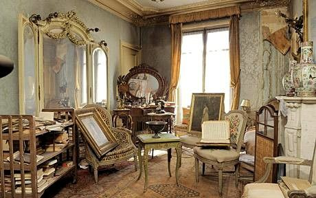 Locked 1940 Paris apartment opened after 70 years -- treasures include lost painting. So cool!