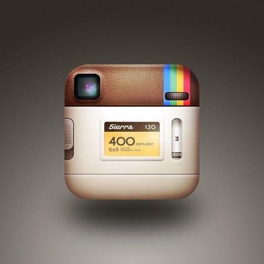 El icono de Instagram por detrás.