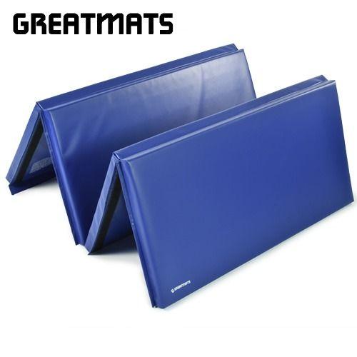 Tumbling Blue Black Gym Mat 4x8 Ft X 2 Inch Folding Gym Mat In 2020 Gym Mats Dance Equipment Gymnastics Pad