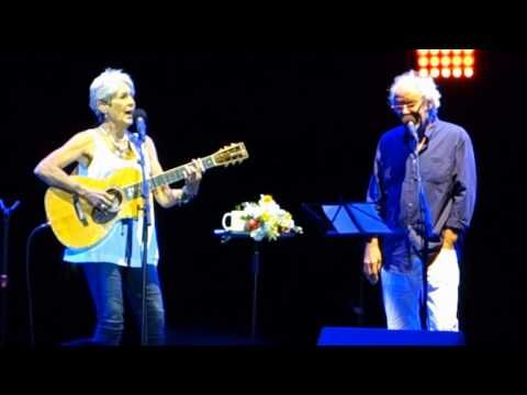 Joan Baez and Maxime Le Forestier - Don't think twice it's allright - Nimes 22 07 2015 - YouTube