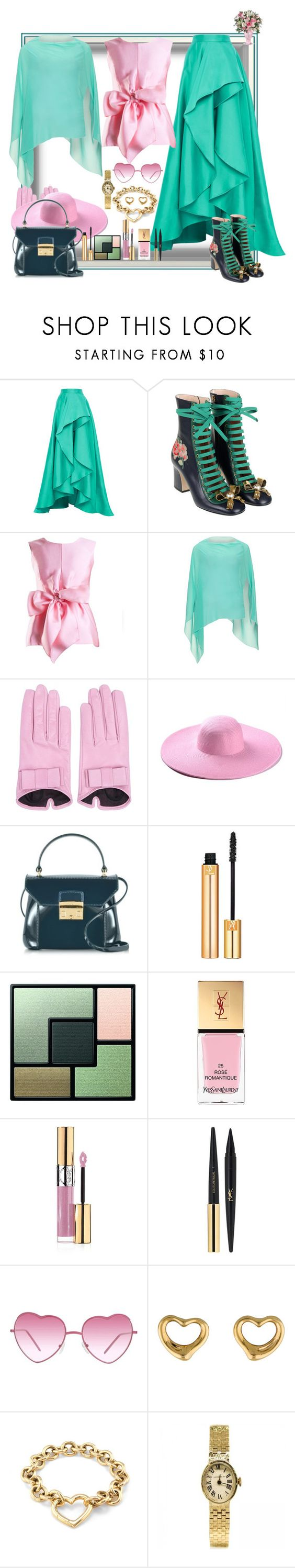 """Happy Mother's Day!"" by ritva-harjula on Polyvore featuring Monique Lhuillier, Olympia Le-Tan, Yanny London, Steilmann, Mario Portolano, Furla, Yves Saint Laurent, Almost Famous and Tiffany & Co."
