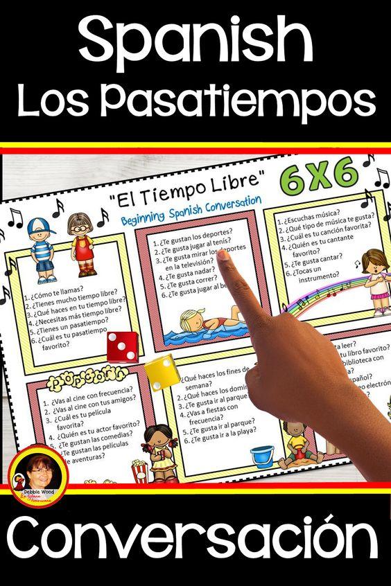 Los Pasatiempos Spanish Free Time Activities Learning Spanish Vocabulary Learning Spanish How To Speak Spanish
