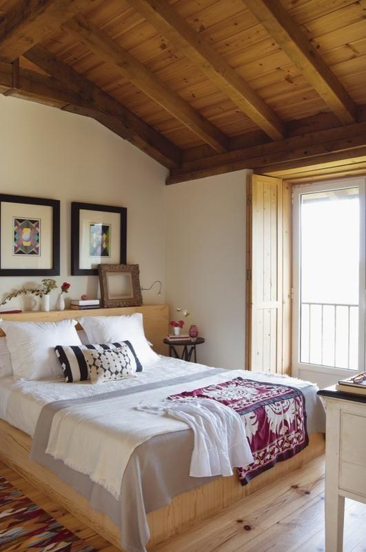 Una Casa De Campo Moderna 08 Casasdecampo Casasdecampomodernas Bedroom Design Rustic Bedroom White Rustic Bedroom