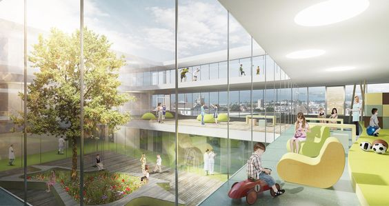 First Prize, , Built by gmp architekten in Lausanne, Switzerland with date 2019. Images by gmp. Architects von Gerkan, Marg and Partners (gmp), with partners JB Ferrari, have won first prize in an international co...