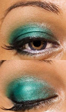 eye make up for brown eyes: green eye shadow