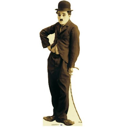 """Size: 5' 6"""" - Charlie Chaplin from the 1915 film The Tramp. Thought of by many as the greatest comedian of all time, Charles Spencer Chaplin was born in London, England on 16 April 1889."""