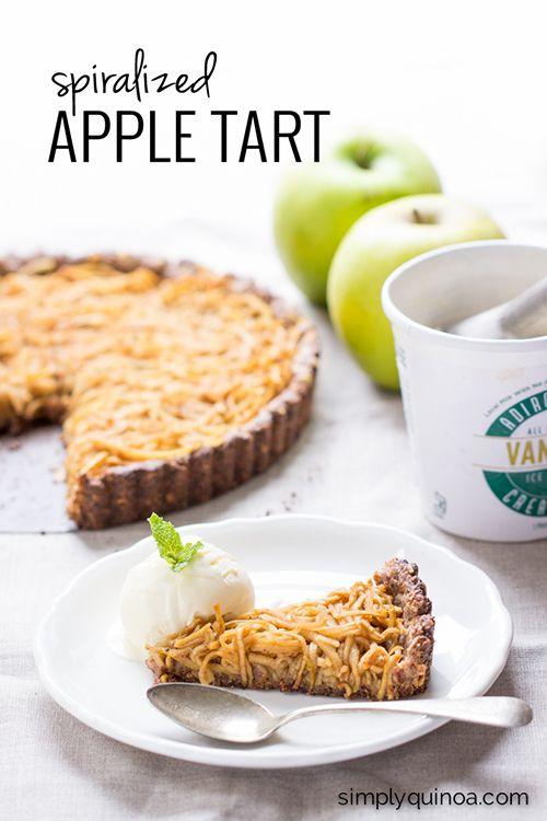 spiralized apple tart