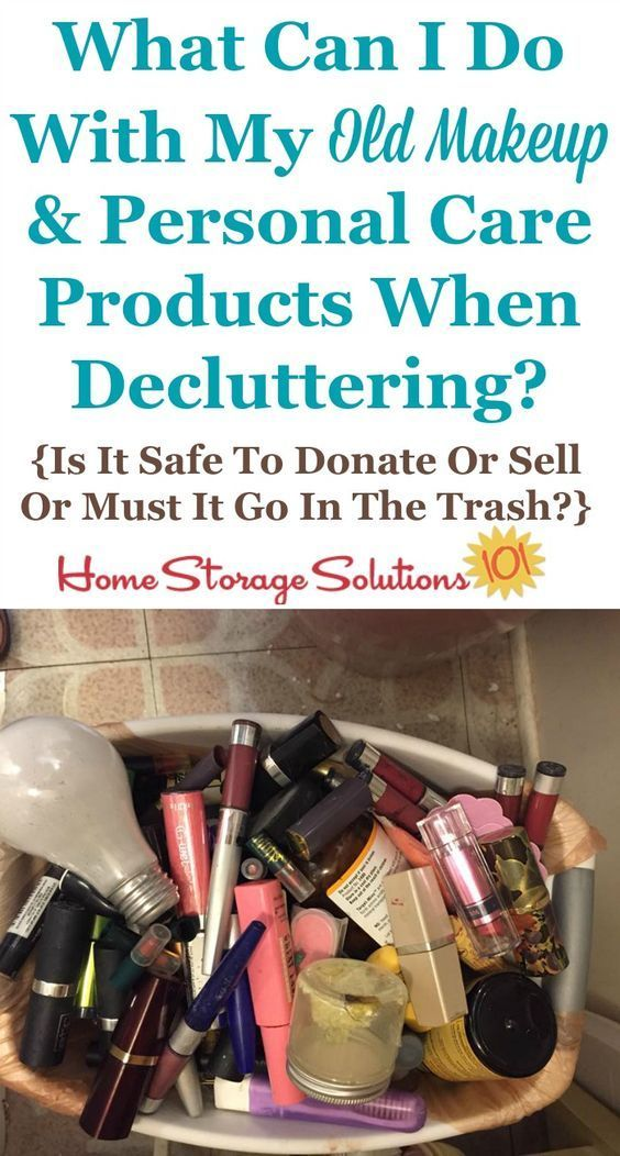 How To Get Rid Of Makeup Cosmetics Toiletries Clutter Declutter Bathroom Storage Solutions Organisation Hacks