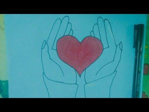 كيفية رسم يد تحمل قلب How To Draw Hand Holding Heart Youtube How To Draw Hands Hands Holding Heart Drawings