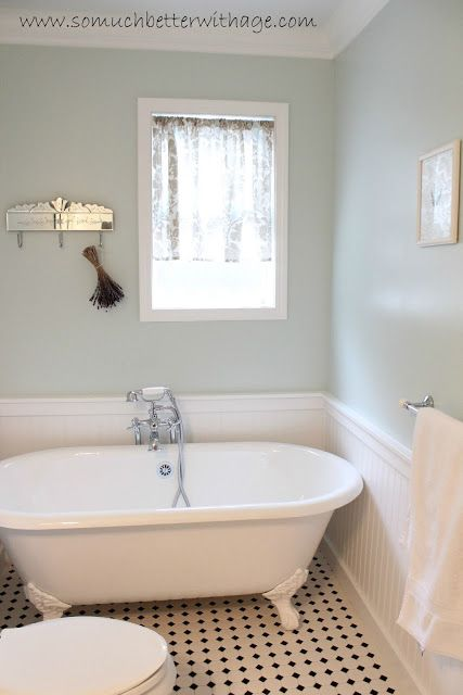 Scrap fabric pinterest the floor colors for bathrooms for Duck egg blue bathroom ideas