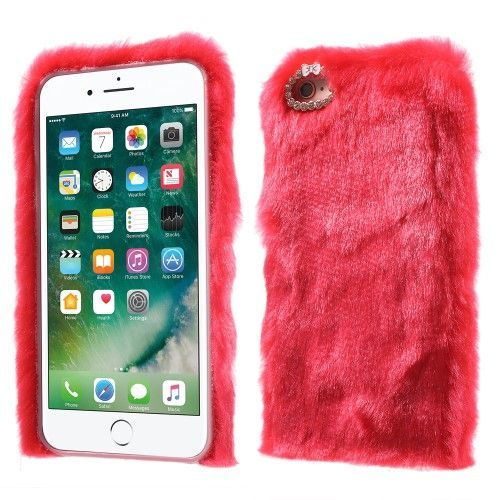 Coque iPhone 6s / 6 en fausse fourrure luxury - Rouge | 6 case ...