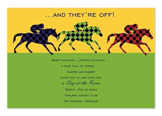 Day At The Races Invitation – Party Invitations Melbourne
