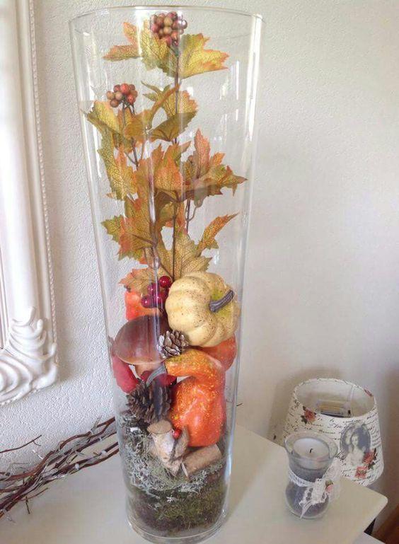 Hoge vaas glazen vaas pinterest for Decoratie in vaas
