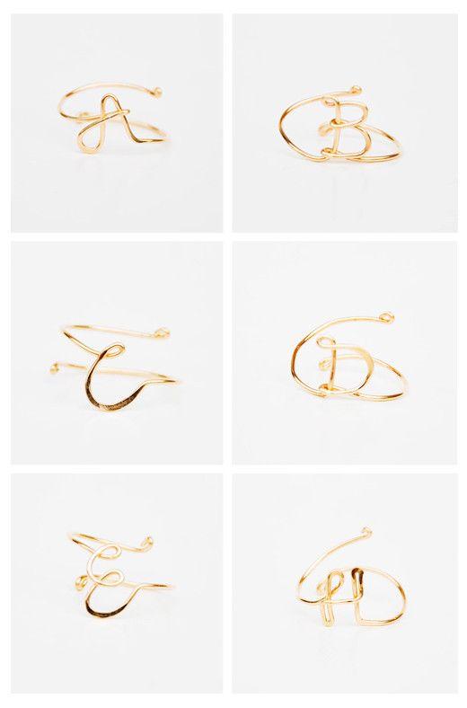 Monogram Midi Ring