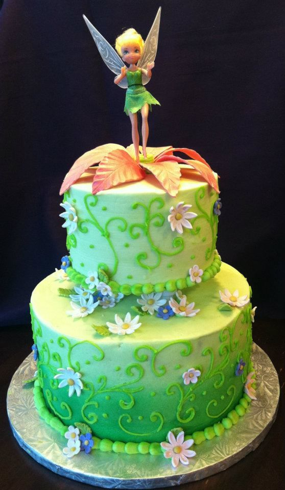Tinkerbell Cake Images Photos : Birthdays, I am and Flower on Pinterest