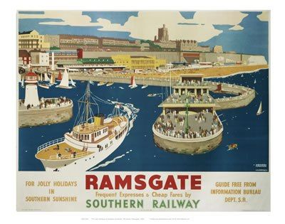 For Jolly Holidays in Sunny Sunshine : Ramsgate : by Southern Railway