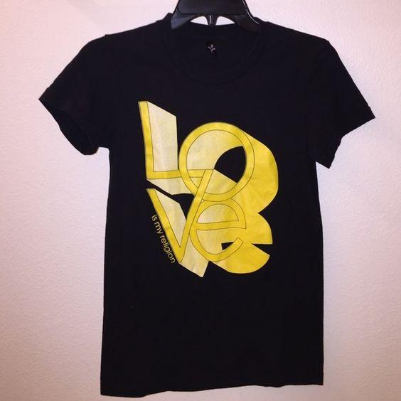 Love is my religion - black tshirt Never been worn Tops Tees - Short Sleeve
