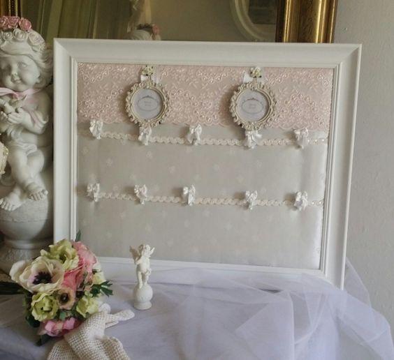 table mariage blanc et rose poudré, style shabby chic et romantique ...