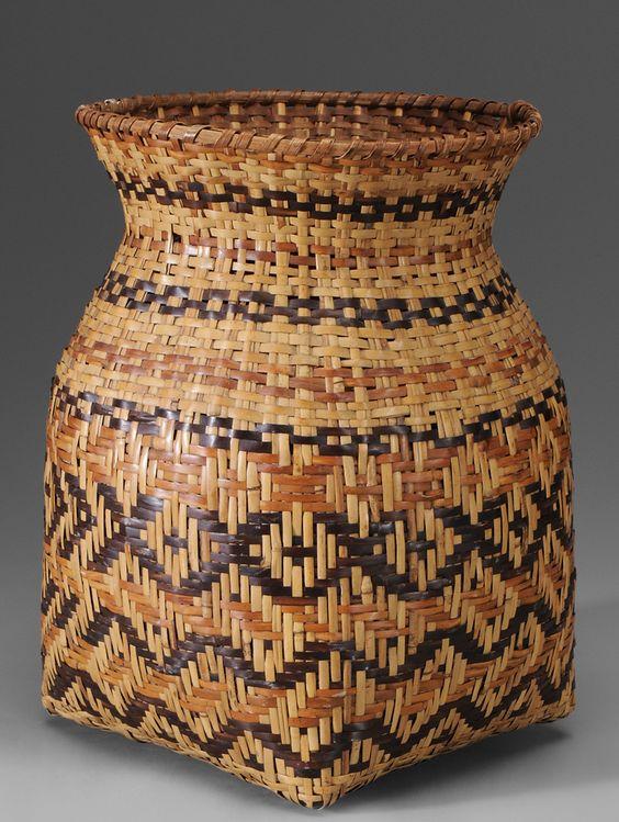 Basket Weaving North Carolina : A beautiful cherokee river cane basket north carolina