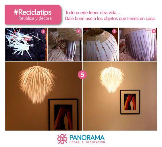 Una luminaria hecha con tus manos <3 @panoramahogar