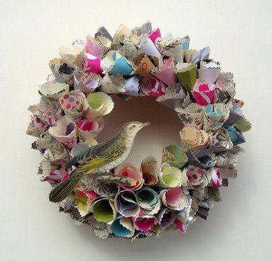 paper cone wreath LOVE LOVE this!