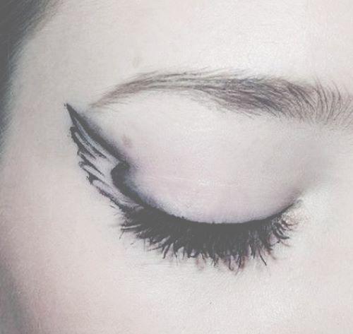 Angel wing eyeliner eyes pinterest lol funny for Wing eyecare