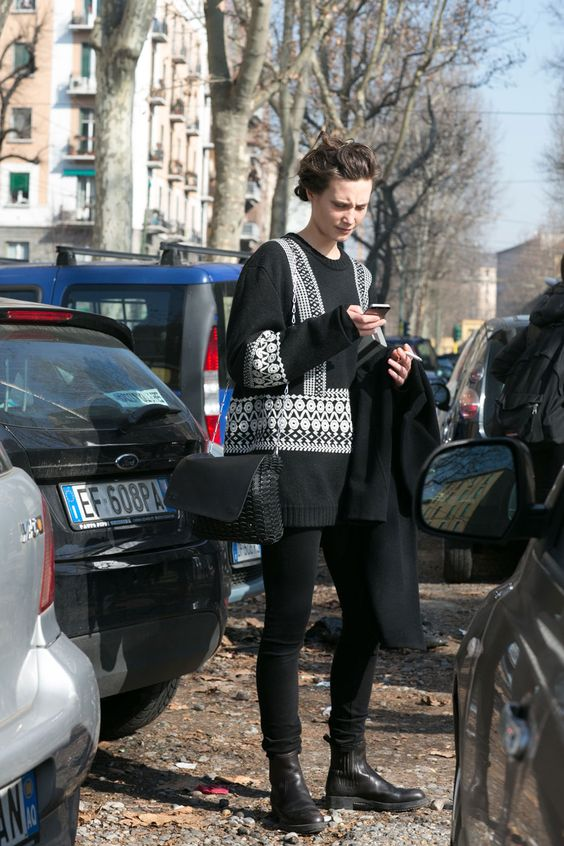#DrakeBurnette sticking with the uniform #offduty in Milan.