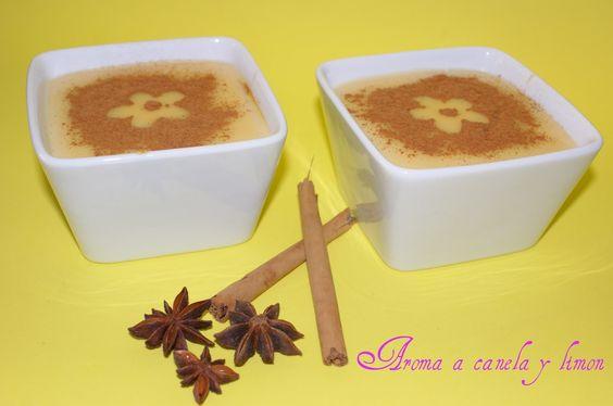 Aroma a canela y limon: Natillas