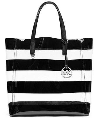 MICHAEL Michael Kors Eliza Clear Large Tote - Handbags \u0026amp; Accessories - Macy\u0026#39;s