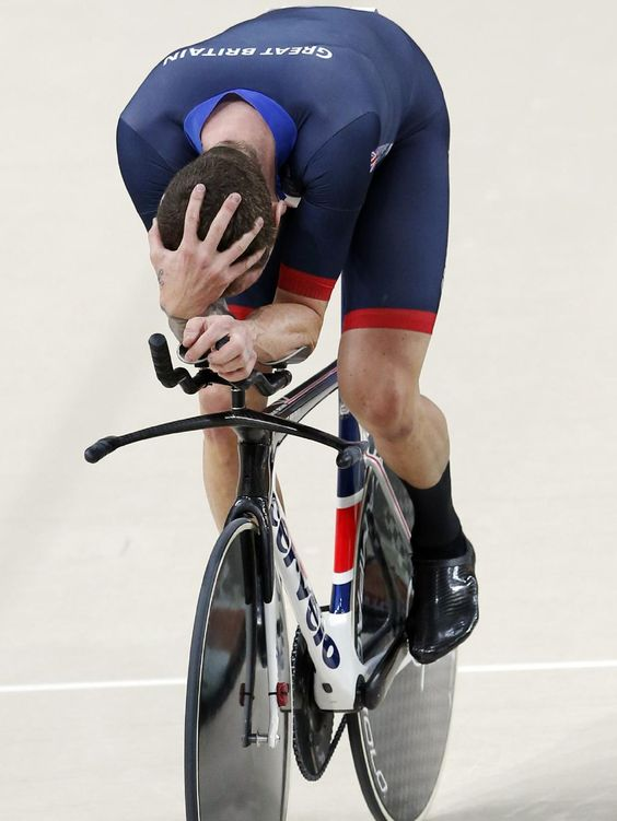 Best pictures of the week in Rio - Bradley Wiggins from Team GB celebrates winning the Men's Team Pursuit at the 2016 Rio Olympics at the Rio Olympic Velodrome. Picture: Adam Head