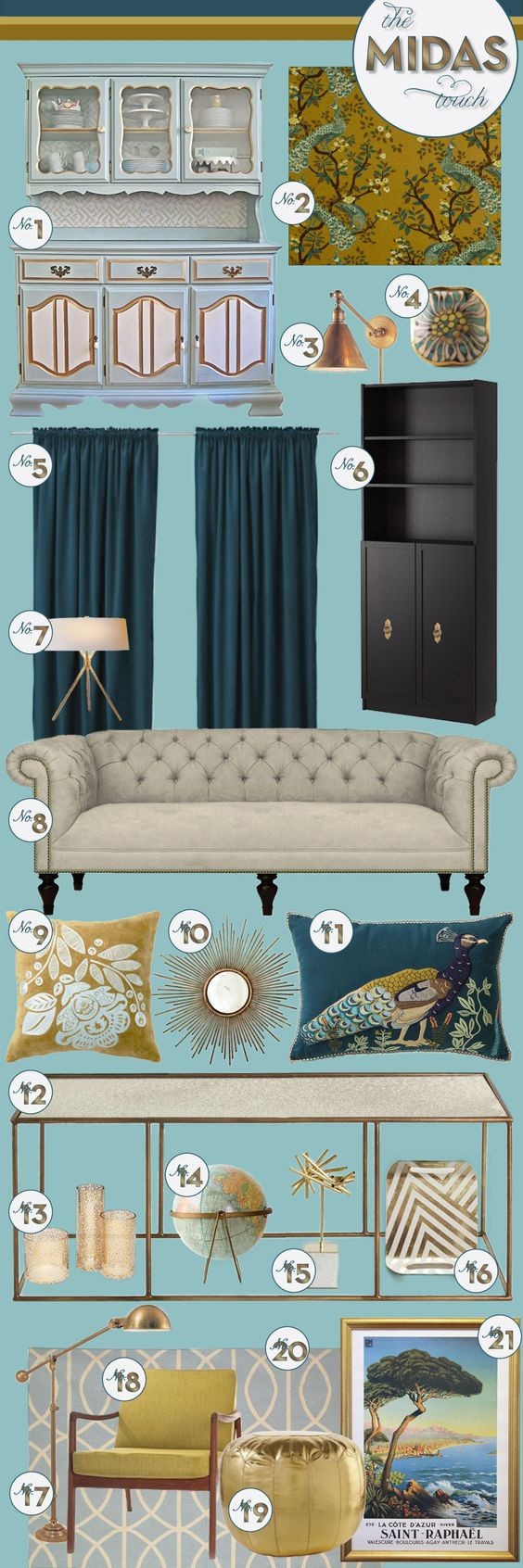 The Midas Touch: Interior Design, Dining Room, Console, Living Room, Guest Room Craft, Gorgeous Interiors, Decoration Color