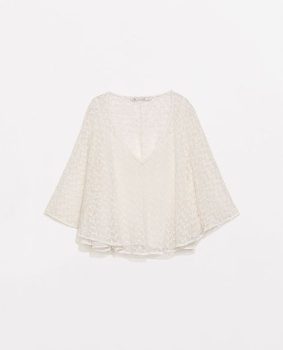 ZARA - COLLECTION AW14 - EMBROIDERED TOP