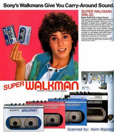 Sony Walkman Print Advertisement Retro Tech Ads