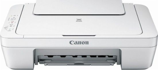 Canon Pixma Mg2522 All In One Printer White Front Zoom With