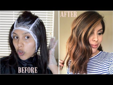 Diy Balayage Using Cap Revlon Frost Glow Highlighting Kit Youtube Diy Highlights Hair Hair Highlights Diy Balayage