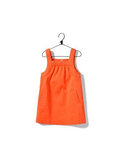 vestido sem mangas cetim - Vestidos - Bebé rapariga (3-36 meses) - Crianças - ZARA Portugal