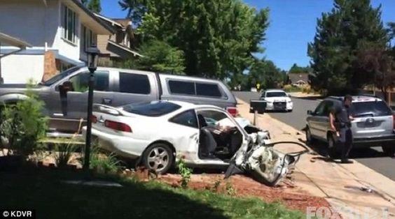 Un idiota chocó su auto a propósito para que su hijo de 2 años muriera